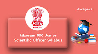 Mizoram PSC Junior Scientific Officer Syllabus