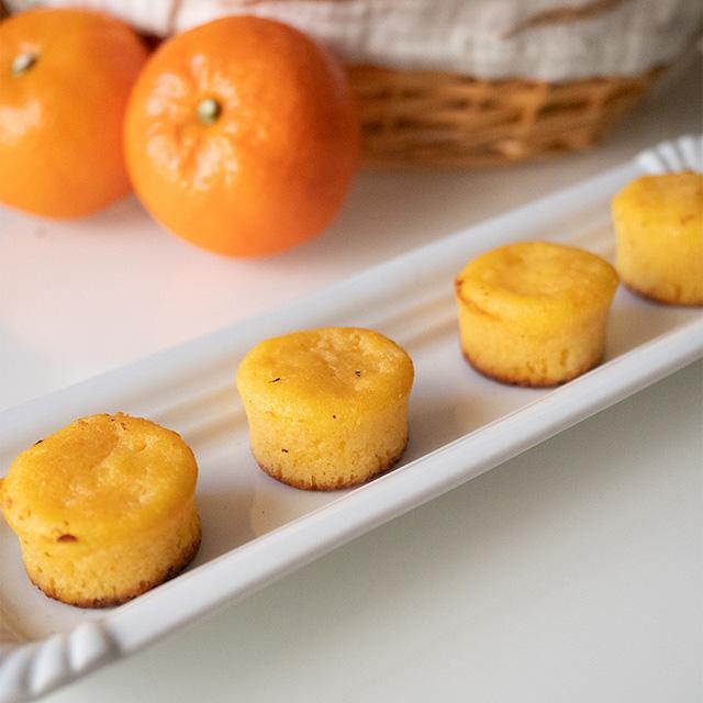 receta de cómo hacer bizcochuelos de mandarina esponjosos