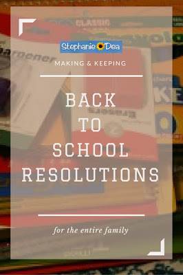 Back to School resolutions -- do you do these?