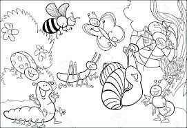 Printable Insect Coloring Pages Animals For Kids