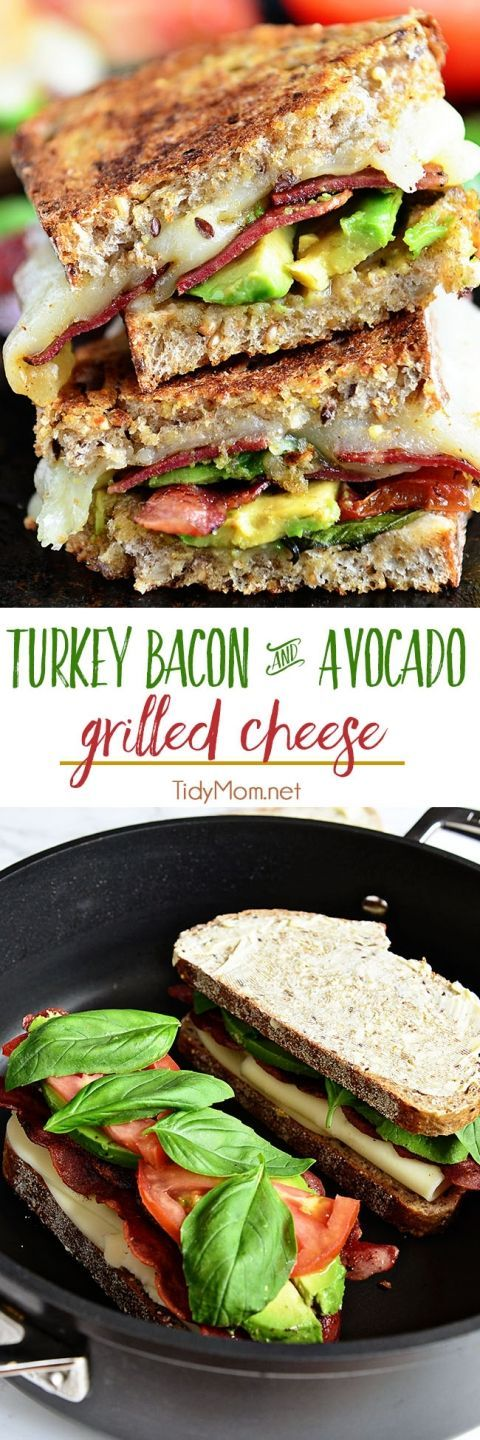 TURKEY BACON AND AVOCADO GRILLED CHEESE