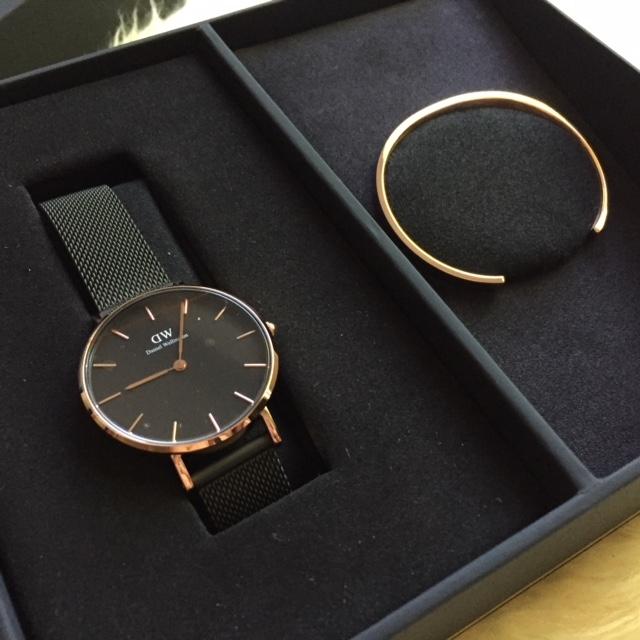 6315800dad5b Daniel Wellington Classic Petite Ashfield watch and cuff in rose gold.