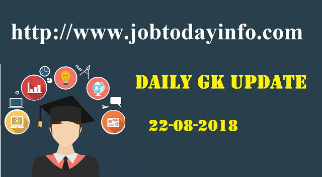 Daily GK Update 22nd August 2017, Important Current Affairs