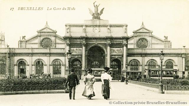 Ancienne Gare du Midi - Bruxelles disparu -  Début des années 1900 - Bruxelles-Bruxellons