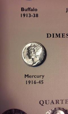 Mercury Dime Obverse