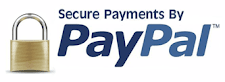 100% Secure With PayPal.