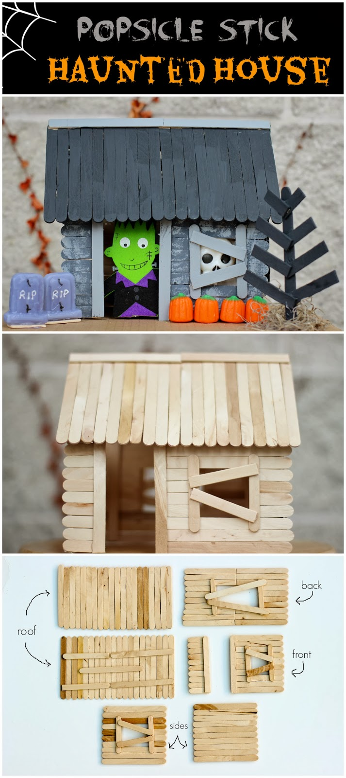 Popsicle Stick Haunted House Happily Everly After