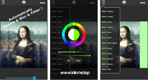 Retoques y filtros para tus fotos con Filter and Share SnapKik