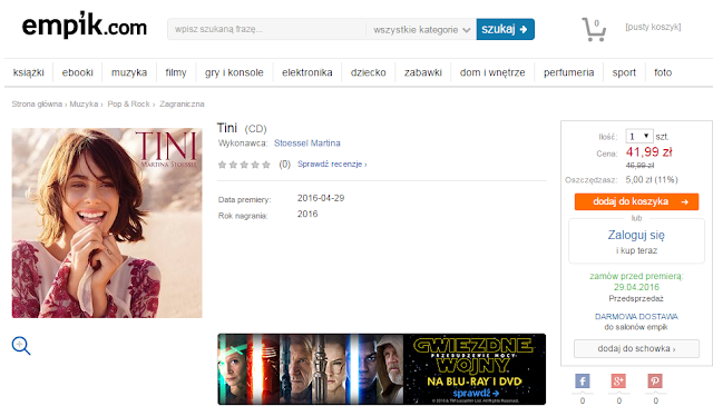 Płyta Tini do kupienia w Polsce