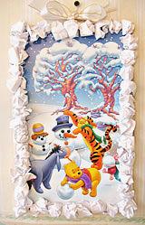 Kuva: Jouluaskartelu lapsille 2 - Jouluinen taulu lumipallokehyksin