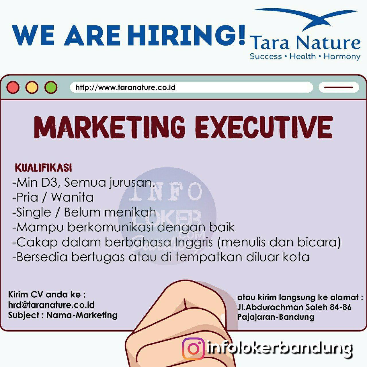 Lowongan Kerja Tara Nature Bandung Juli 2018 - infolokerbandung.com