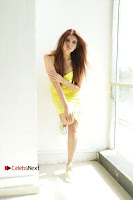 Actress Model Ihana Dhillon Poshoot Gallery in Yellow Lace Short Dress  0002.jpg