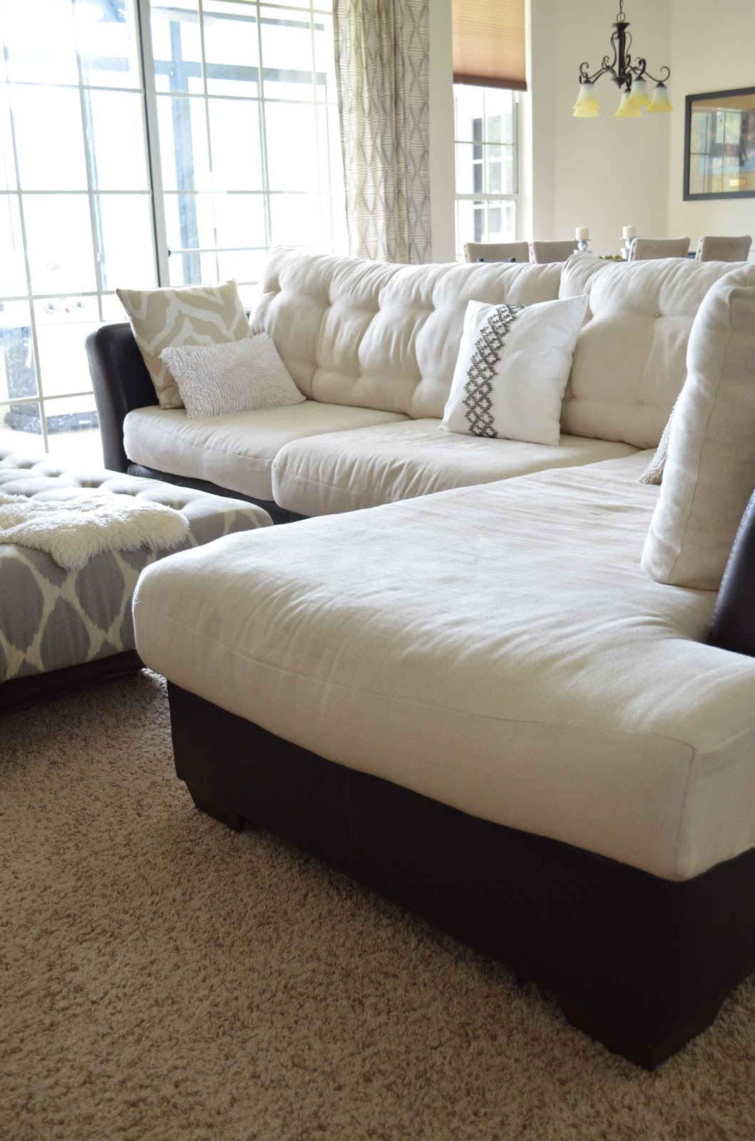 How To Make Sofa Cushions Harder Modern Fabric Sofas Factory Inside Out Design Do Buttonless Tufting On Couch