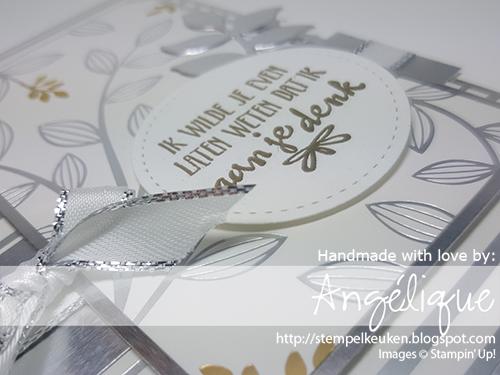 de Stempelkeuken - Stampin'Up! producten koopt u bij de Stempelkeuken http://stempelkeuken.blogspot.com #stempelkeuken #stampinup #stampinupnl #stampinupdemonstrator #saleabration #freegoodies #gratis #zilver #bigshot #thinlits #eclectic #silver #embossing #embossen #kaartenmaken #cardmaking #papercrafting #ribbon #thinkingofyou #denkenaanjou #voorjou #liefde #bruiloft #wedding #marriage #kreativ #basteln #knutselen #creatief #denhaag #rotterdam #leiden #westland