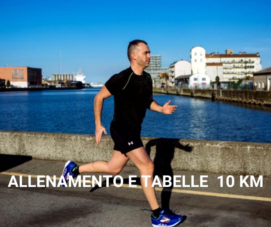 tabella 10 km