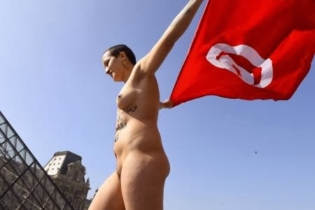 Nude iranian women protest