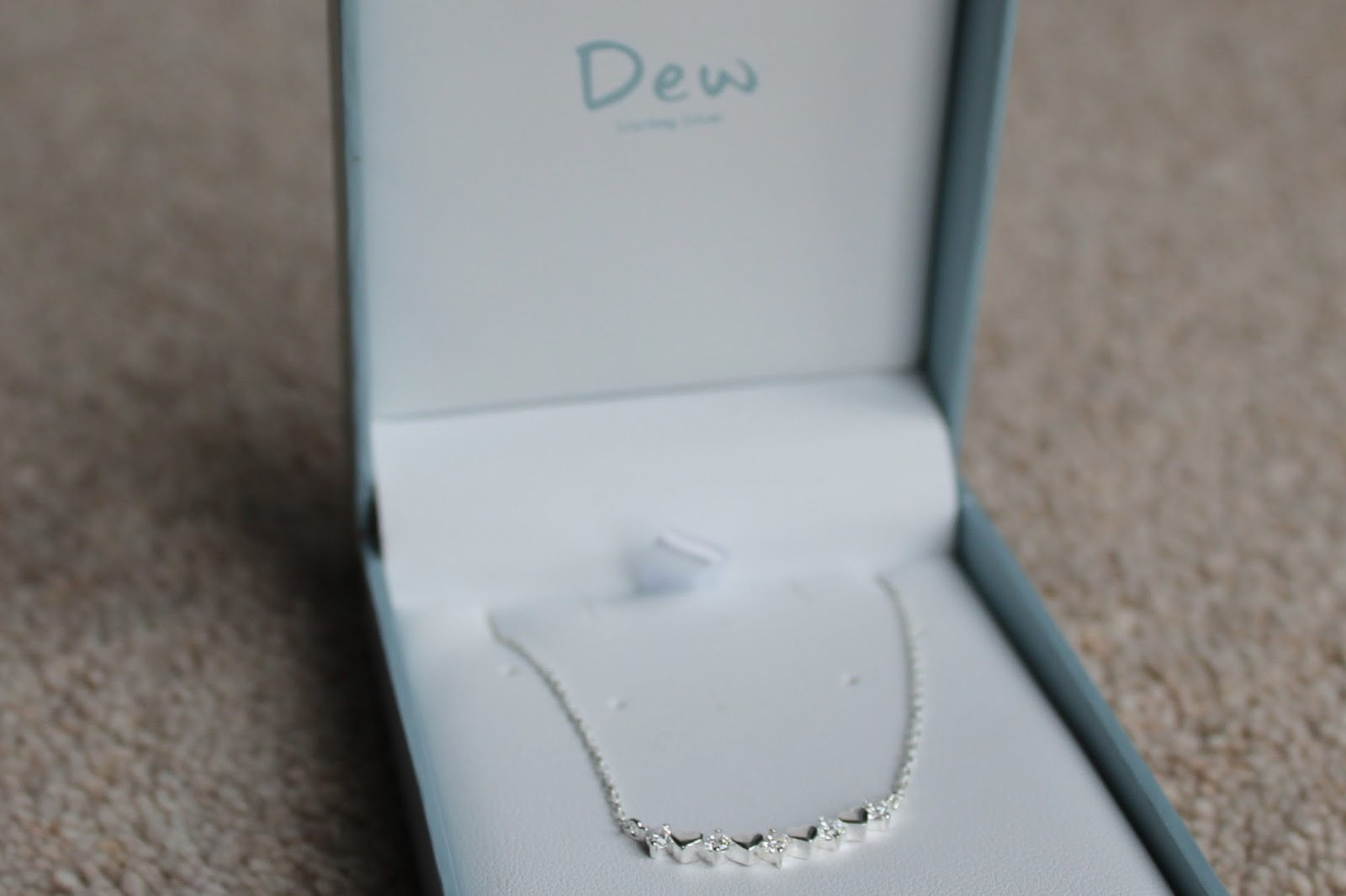 Dew Mini Silver and Stone Heart Necklace - House of Fraser