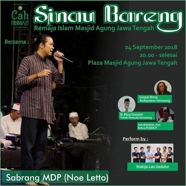 SINAU BARENG SABRANG MDP (NOE LETTO) DI PLAZA MAJT