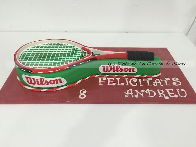 Tarta raqueta de tenis 1