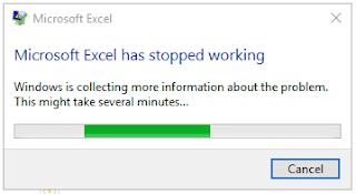 Mengatasi Microsoft Excel has stop working