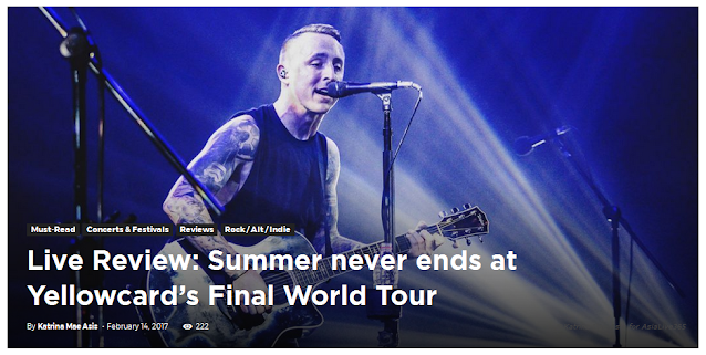 Live Review: Summer never ends at Yellowcard's Final World Tour