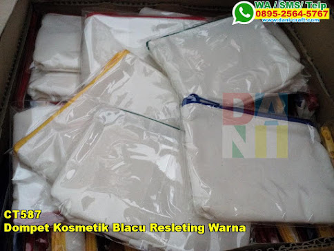 Grosir Dompet Kosmetik Blacu Resleting Warna