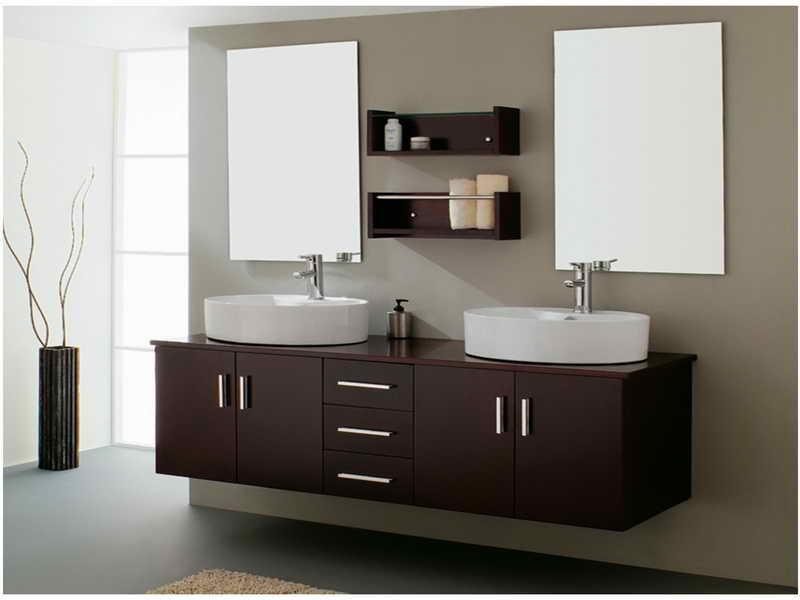 Double Sink Bathroom Vanity For Dual Capacity Yonehome