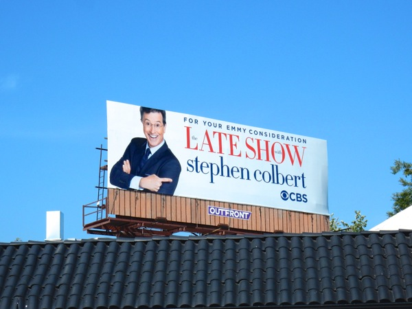 Late Show Stephen Colbert 2016 Emmy billboard