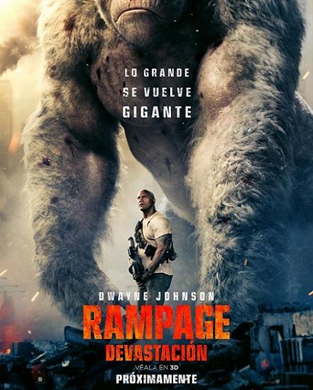 Rampage: Devastación (2018) 720p y 1080p WEBRip mkv Dual Audio AC3 5.1 ch