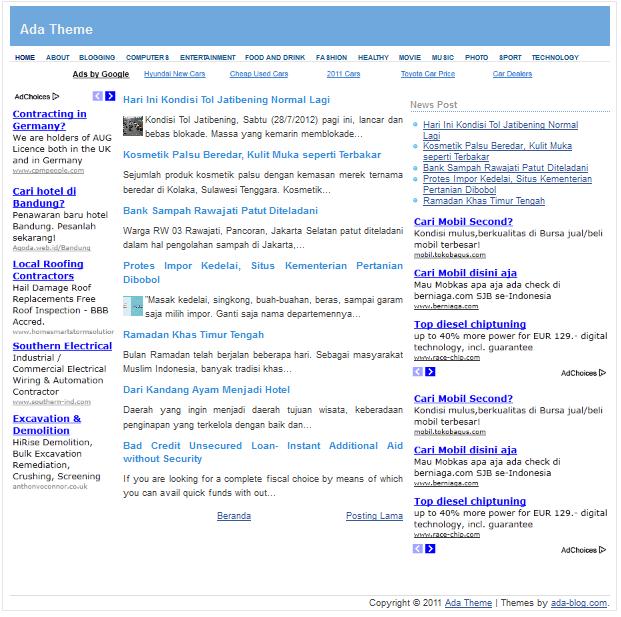 Best Blogger Templates SEO Friendly 2014 | Blogger SEO Template