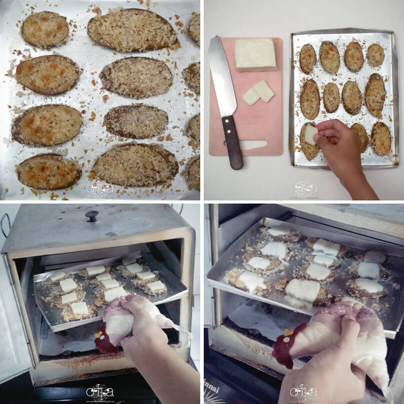 Terung Crunchy Mozarella Recipe Topping Keju