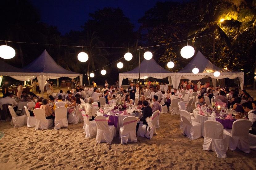 romantic beach wedding at avillion port dickson