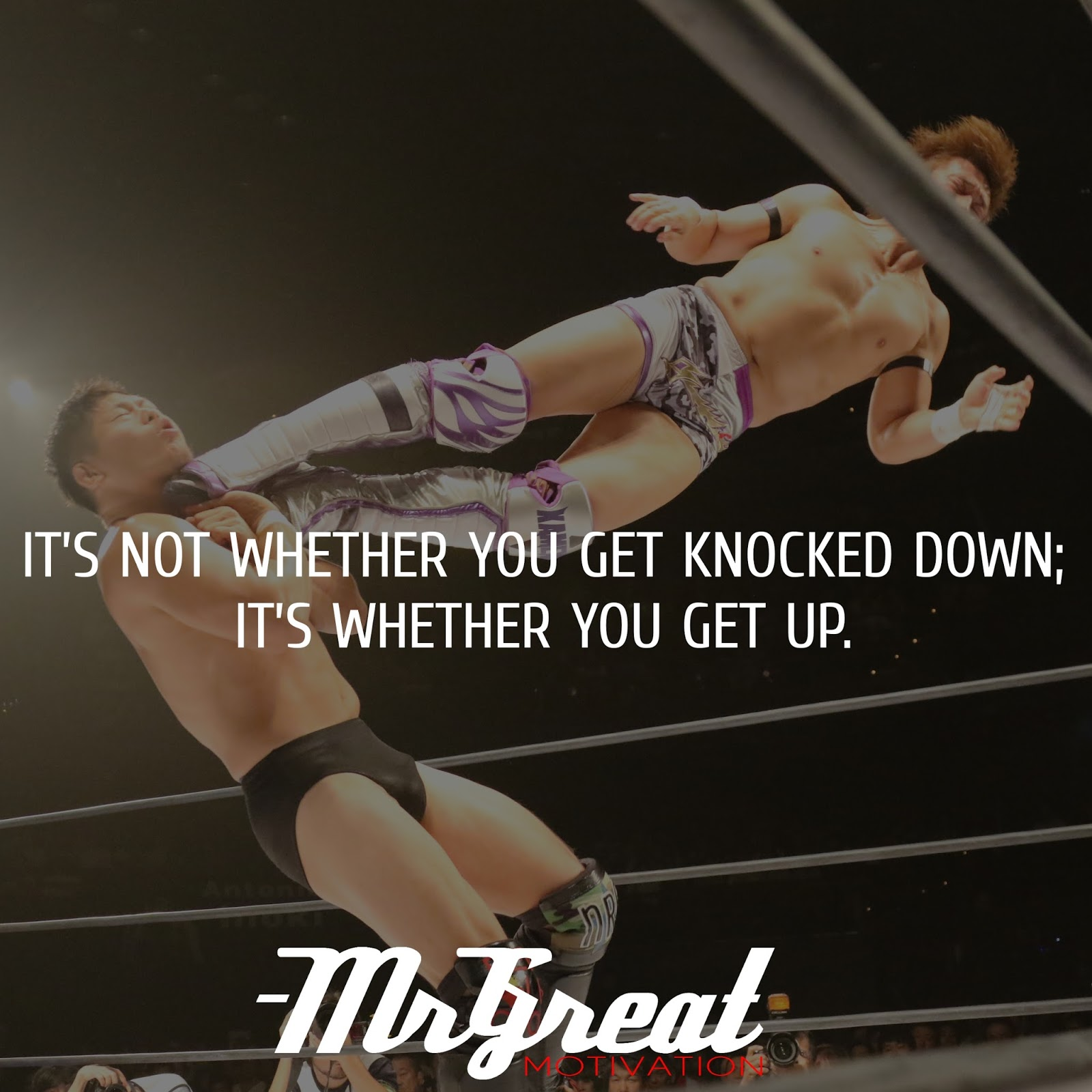 It's not whether you get knocked down; it's whether you get up - VINCE LOMBARDI