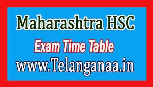 Maharashtra HSC Exam Time Table