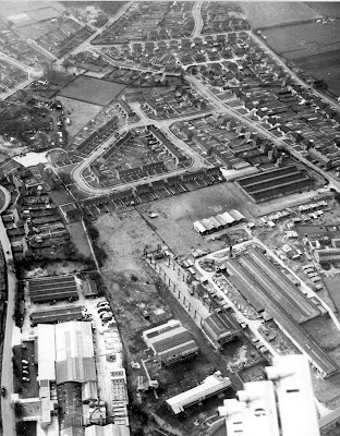 Aerial photograph of Dixons Hill Road, Welham Green taken in the 1960s Image from B. H. Warne part of the Images of North Mymms collection