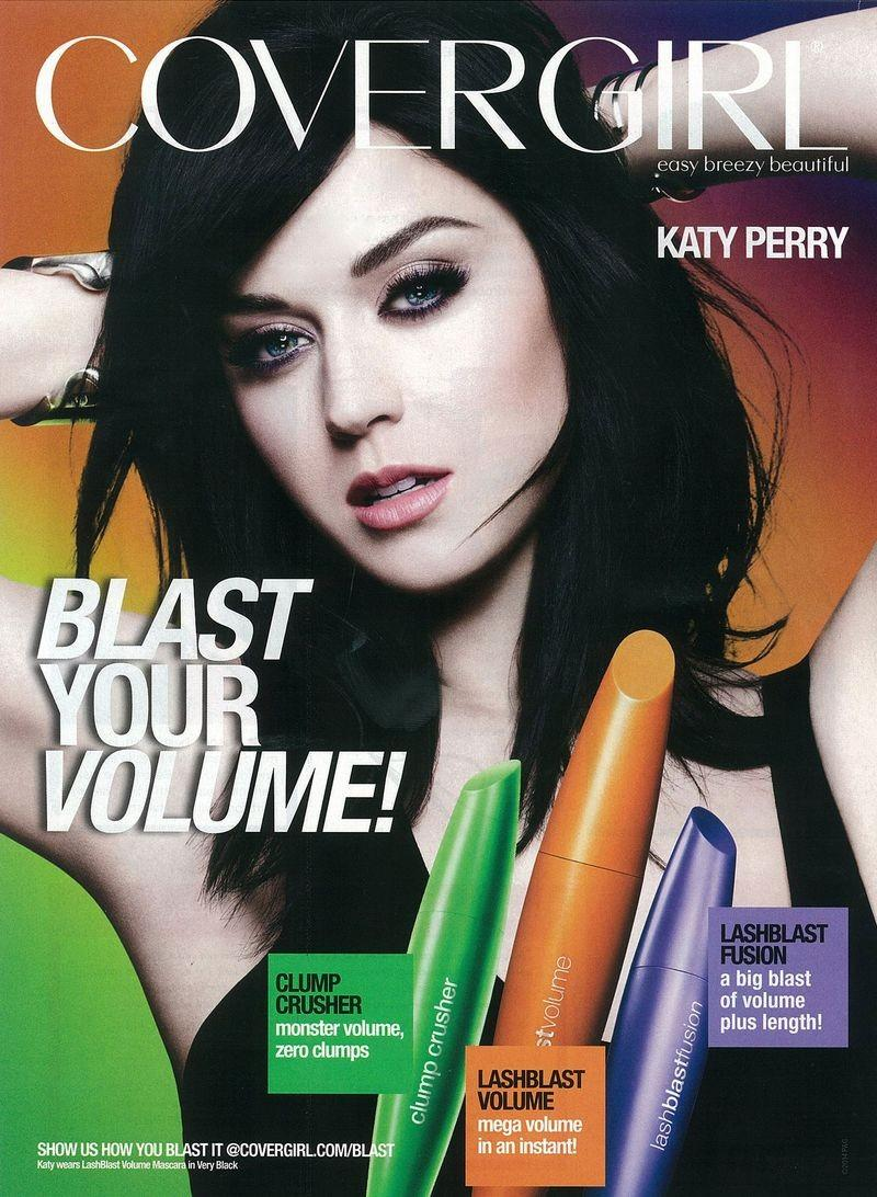 Katy Perry poses for the CoverGirl LashBlash Mascara Campaign Fall 2014