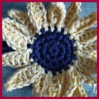 Girasol a crochet