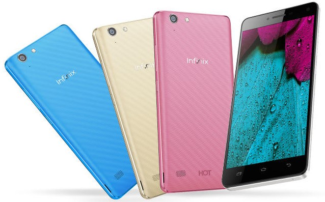 Infinix Hot 3 in full colour