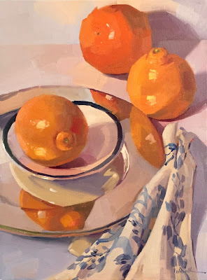 oil painting of oranges by Sarah Sedwick