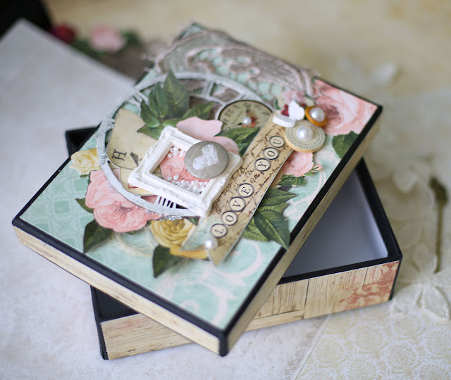 Gift box by Evgenia Petzer using Juliet collection Bo Bunny