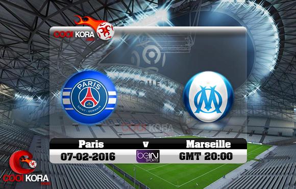 مشاهدة مباراة مارسيليا وباريس سان جيرمان اليوم 7-2-2016 في الدوري الفرنسي