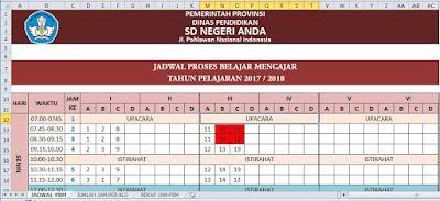 Aplikasi Jadwal Pelajaran SD