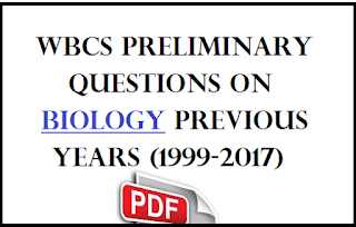 Wbcs Preliminary Questions on Biology Previous Years (1999-2017)