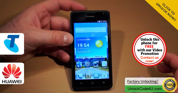Factory Unlock Code Huawei Y530 from Telstra