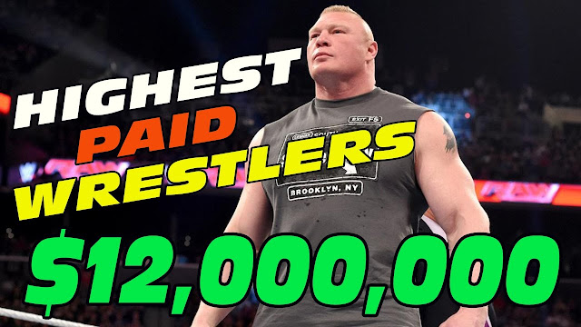 Brock Lesnar is paid $12 Million a year by the WWE. StrengthFighter.com