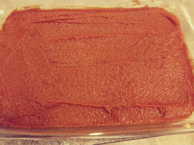 Pumpkin squares using cake mix