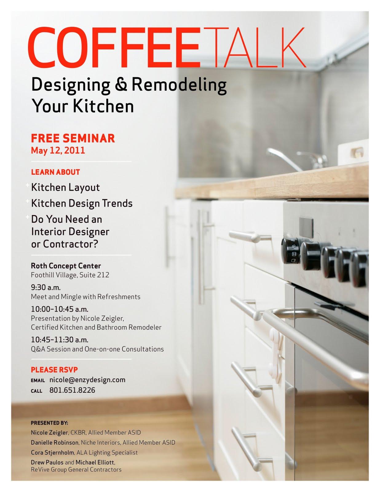 Free Kitchen Design Seminar in Salt Lake City – enzy design | Utah ...