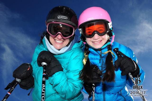 Jen and Miss O ski