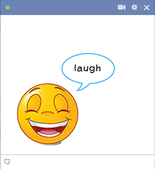 Facebook laugh smiley