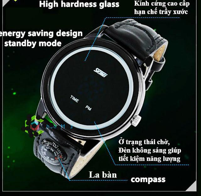 Đồng hồ led chống nước Skmei 0921